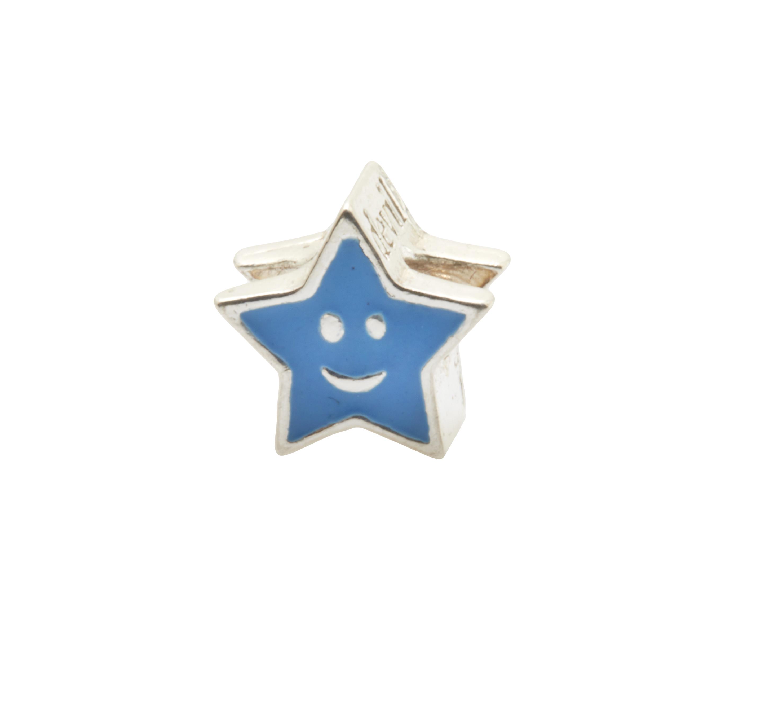 buscar genuino muy genial nueva precios más bajos Abalorio Estrella de Plata de Ley y Esmalte color Azul, medidas:0,8 x 0,8  cms